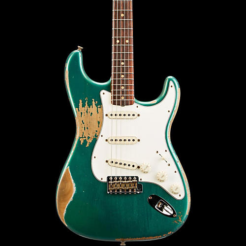 fender custom shop l series 1964 stratocaster heavy relic electric guitar sherwood green. Black Bedroom Furniture Sets. Home Design Ideas