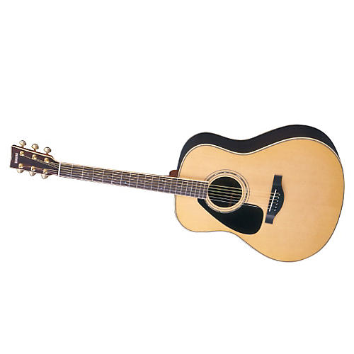 Yamaha L Series Left-Handed Dreadnought Acoustic Guitar with Case Natural