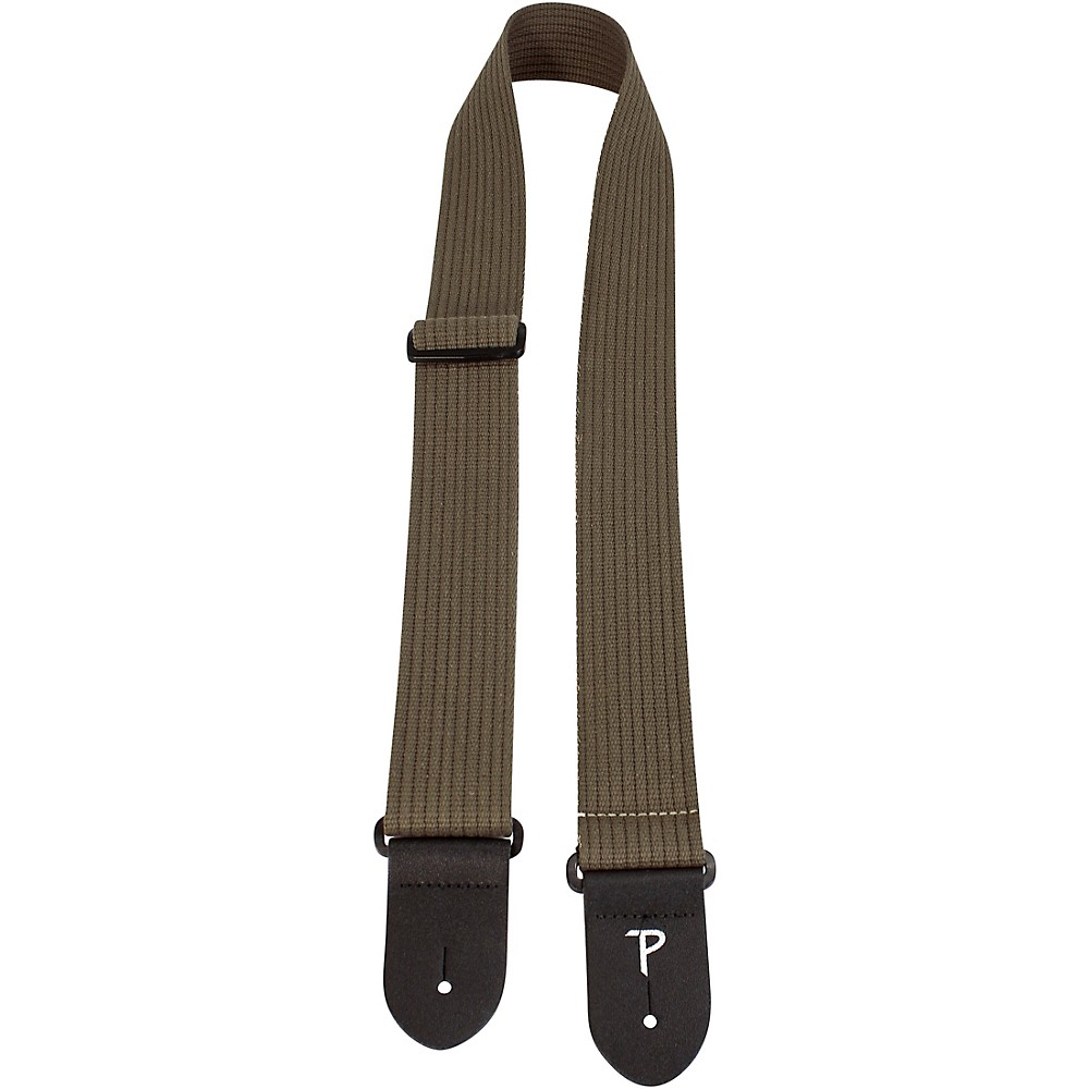 Perri's Ribbed Cotton Guitar Strap Olive Green 2 In. 1500000206329