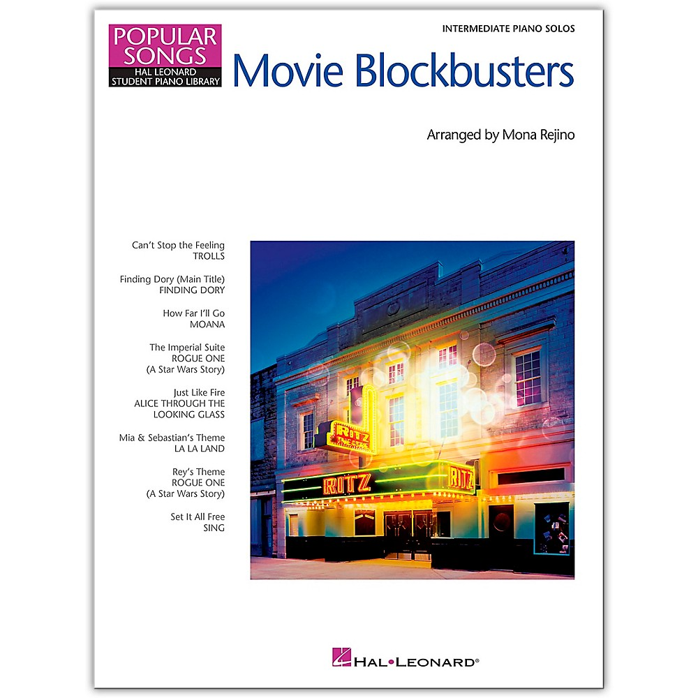 Hal Leonard Movie Blockbusters Popular Songs Series 8 Great Arrangements For Intermediate Piano Solo 1500000210356