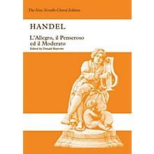 Novello L'Allegro, il Penseroso ed il Moderato SATB Composed by George Frideric Handel