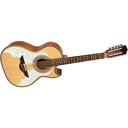 H. Jimenez LBQ3E El Murcielago (The Bat) Full Body Bajo Quinto Acoustic-Electric Guitar Natural