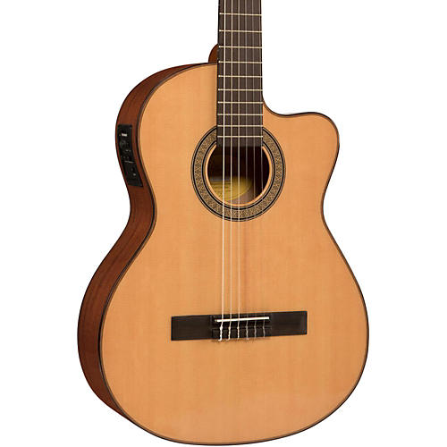 Lucero LC150Sce Spruce/Sapele Cutaway Acoustic-Electric Classical Guitar-thumbnail
