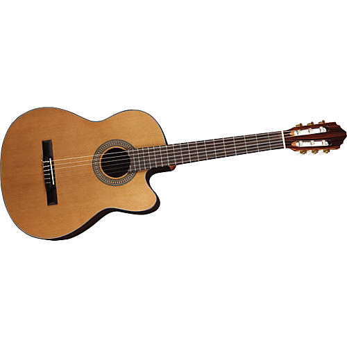Lucero LC200CE Cutaway Acoustic-Electric Classical Guitar-thumbnail