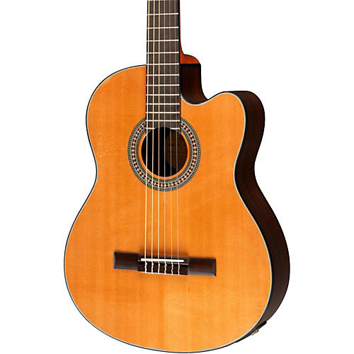 Lucero LC200SCE Rosewood/Cedar Acoustic-Electric Cutaway Classical Guitar