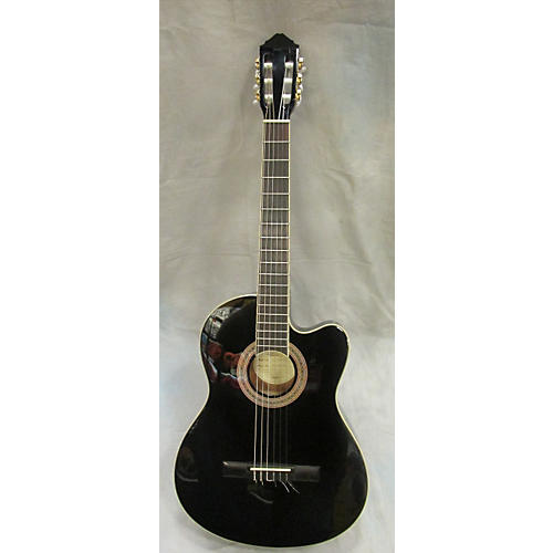 Lucero LCT250CE Black Classical Acoustic Electric Guitar-thumbnail