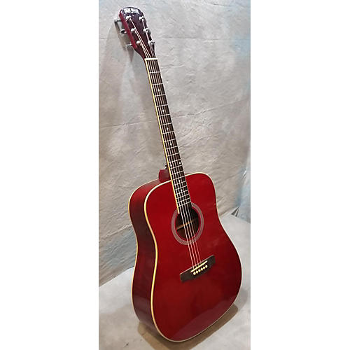 Great Divide LD-1-DR Candy Apple Red Acoustic Guitar