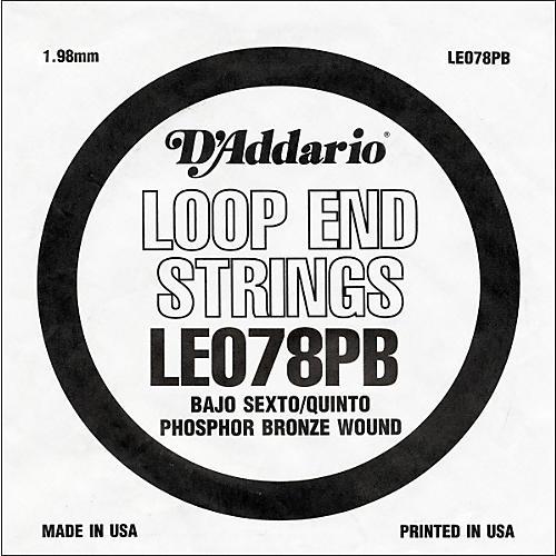 D'Addario LE078PB Phosphor Bronze Wound Single String