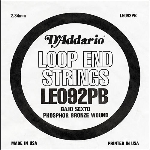 D'Addario LE092PB Phosphor Bronze Wound Single String-thumbnail