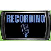 """American Recorder Technologies LED """"Recording"""" Sign - Blue"""
