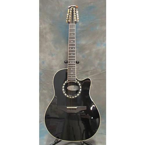 Ovation LEGEND 1866 Black 12 String Acoustic Electric Guitar