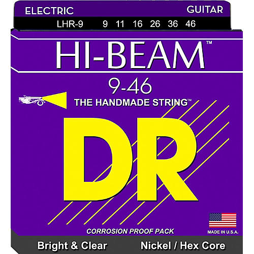 DR Strings LHR9 Hi-Beam Nickel Lite'n'Heavy Electric Guitar Strings