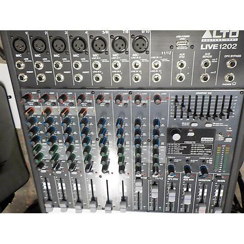 Alto LIVE 1202 12-Channel 2-Bus Unpowered Mixer-thumbnail