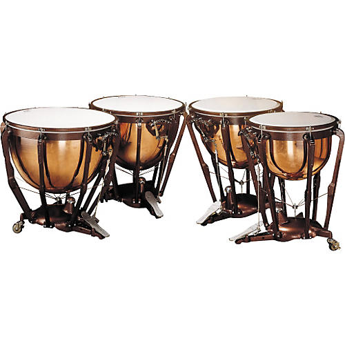 Ludwig LKP504PG Professional Polished Copper Timpani Set