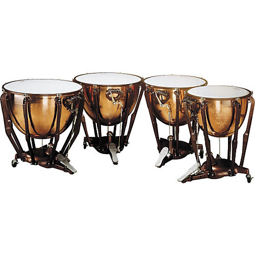 Ludwig LKS404PG Stand Polished Copper Timp Set-thumbnail