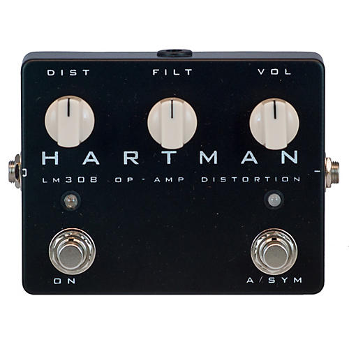 Hartman Electronics LM308 Op-Amp Distortion Guitar Effects Pedal
