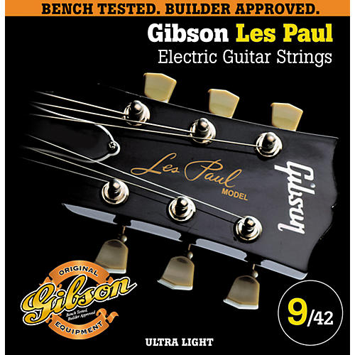 Gibson LP9 Les Paul Electric Pure Nickel Ultra Light Electric Guitar Strings