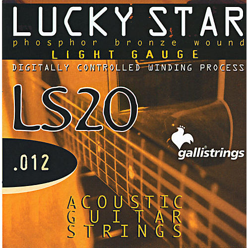 Galli Strings LS20 LUCKY STAR Phosphor Bronze Round Wound Light Acoustic Guitar Strings