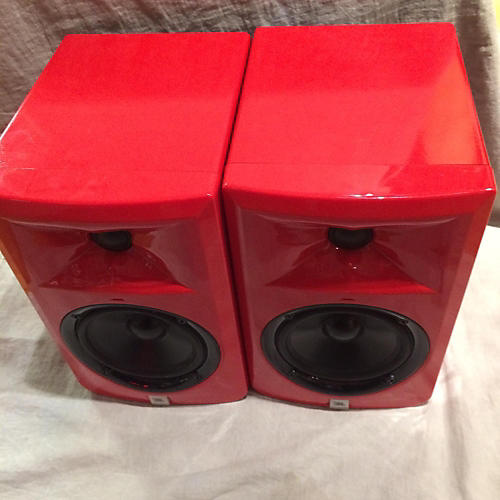JBL LSR305 Pair Red Powered Monitor