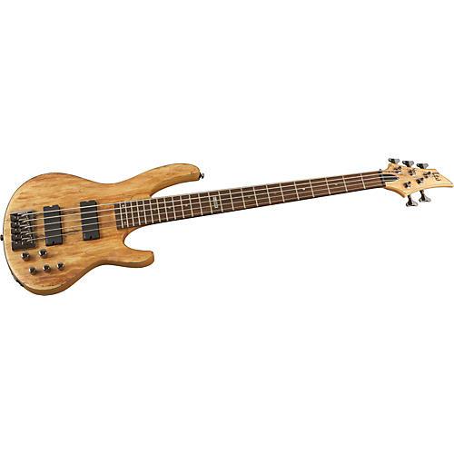 ESP LTD B-415 Spalted Maple 5-String Electric Bass Guitar-thumbnail