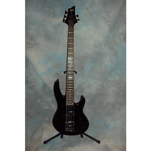 ESP LTD B55 5 String Black Electric Bass Guitar-thumbnail
