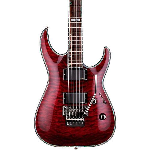 ESP LTD Deluxe H-1001QM Floyd Rose Electric Guitar See-Thru Black Cherry