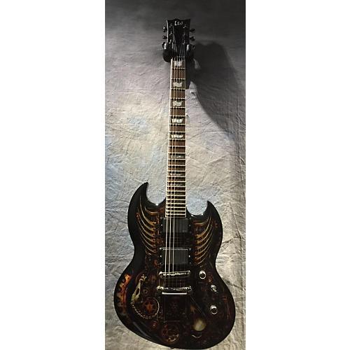 ESP LTD Graphic Series EX Clockwork Zombie Solid Body Electric Guitar-thumbnail