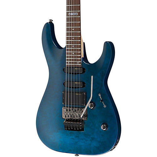 ESP LTD MH-103 Quilted Maple Electric Guitar See-Thru Blue Rosewood Fingerboard