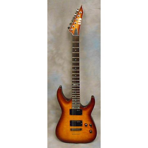 used esp ltd mh100qmnt amber sunburst solid body electric guitar guitar center. Black Bedroom Furniture Sets. Home Design Ideas