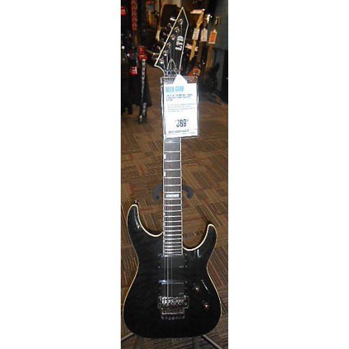 ESP LTD MH350FR Solid Body Electric Guitar Trans Black