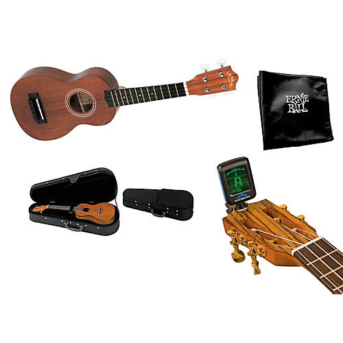 Lanikai LU-11 Standard Ukulele Regular Nato Bundle with Hardcase and Accessories