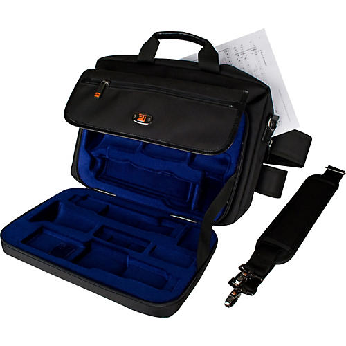 Protec LUX Clarinet Case with Sheet Music Messenger Bag-thumbnail