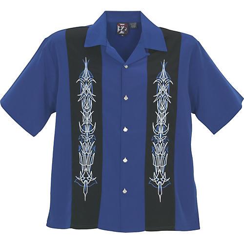 Dragonfly Clothing Company Laces Woven Panel Shirt-thumbnail