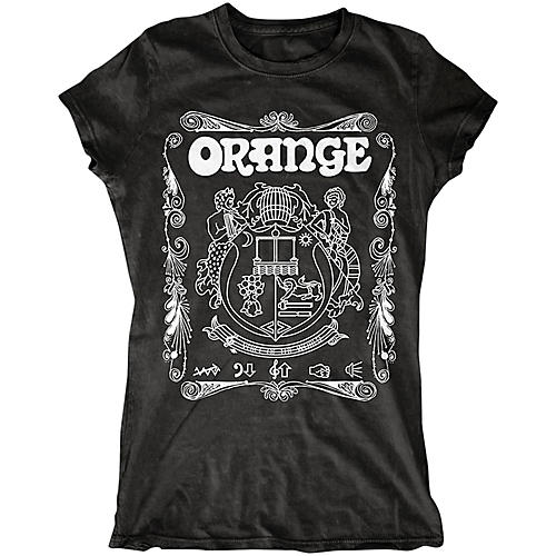 orange amplifiers ladies crest t shirt with white crest guitar center. Black Bedroom Furniture Sets. Home Design Ideas