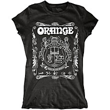Orange Amplifiers Ladies Crest T-Shirt with White Crest