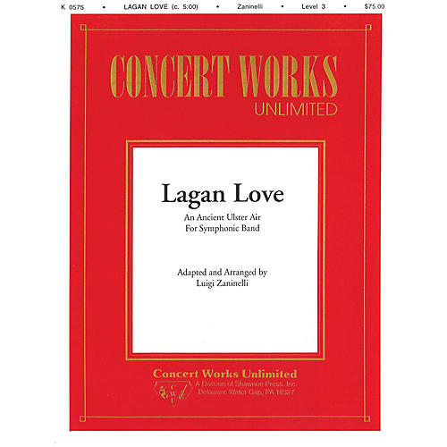 Hal Leonard Lagan Love Concert Band Level 3 Composed by Luigi Zaninelli