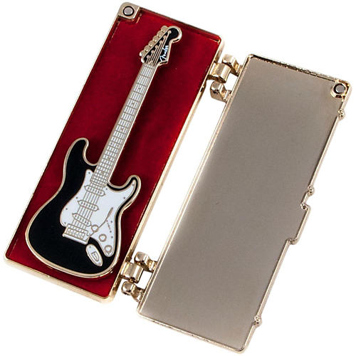 Fender Lapel Pin with Opening Guitar Case