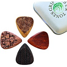 Timber Tones Laser Tones Grip Mixed Tin of 4 Guitar Picks