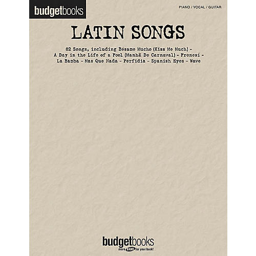 Hal Leonard Latin Songs Budget Piano/Vocal/Guitar Songbook-thumbnail