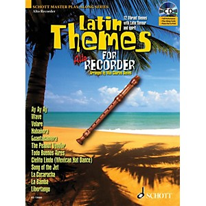 Schott Latin Themes for Alto Recorder Instrumental Play-Along Series Softco...