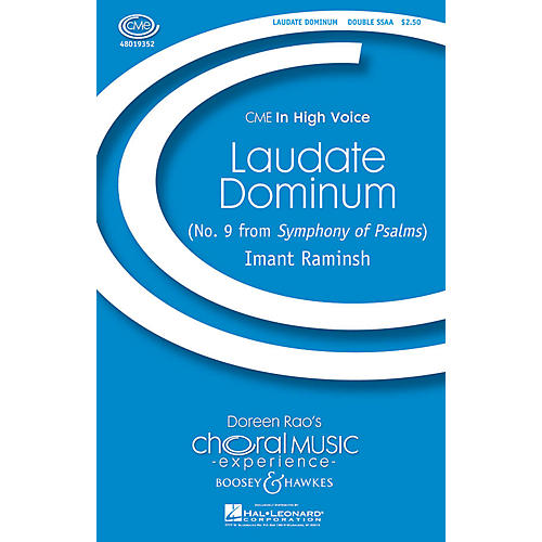 Boosey and Hawkes Laudate Dominum (No. 9 from Symphony of Psalms) CME In High Voice SSAA composed by Imant Raminsh