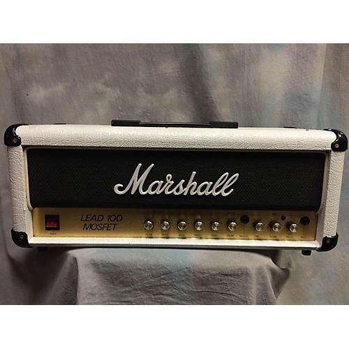 Marshall Lead 100 Mosfet White Guitar Amp Head-thumbnail