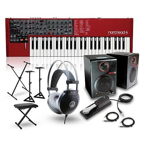 Nord Lead 4 Synthesizer with RPM3 Monitors, Headphones, Bench, Stand, and Sustain Pedal-thumbnail