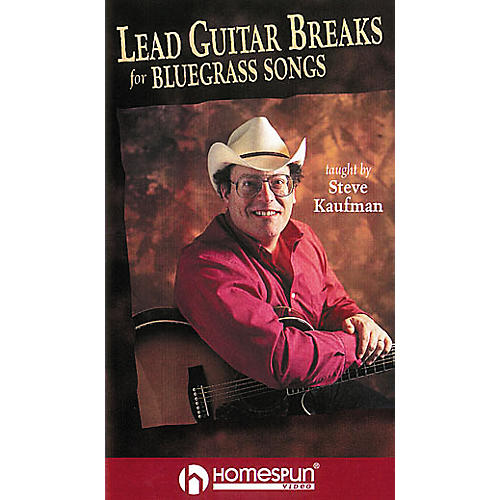 Homespun Lead Guitar Breaks for Bluegrass Guitar (VHS)-thumbnail