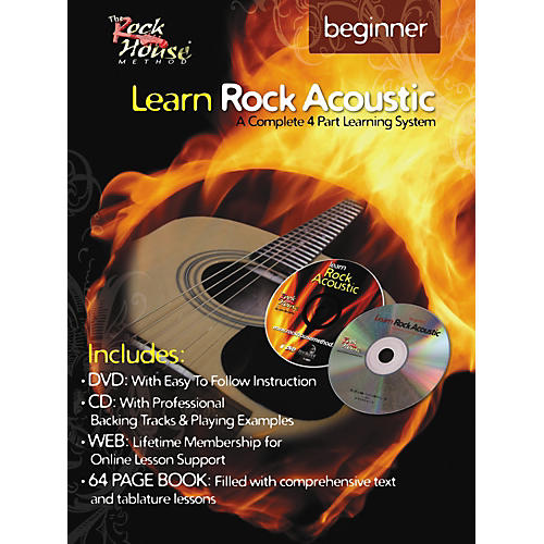 Hal Leonard Learn Rock Acoustic Beginner Book/DVD/CD Combo