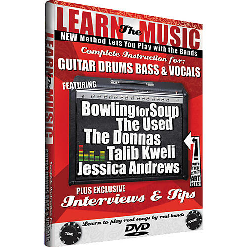 JustEnough Learn the Music: Complete Instruction for Guitar, Bass, Drums, and Vocals (DVD)