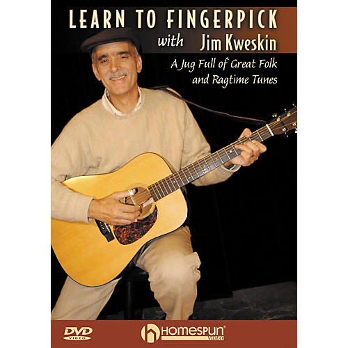 Homespun Learn to Fingerpick With Jim Kweskin: A Jug Full of Great Folk and Ragtime Tunes DVD-thumbnail