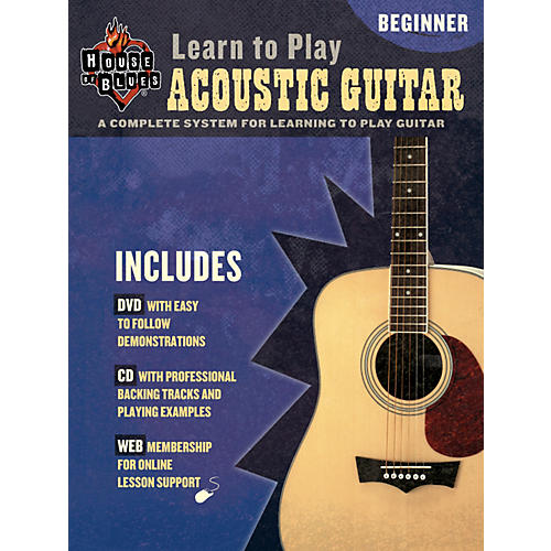 House of Blues Learn to Play Acoustic Guitar Book/CD/DVD-thumbnail