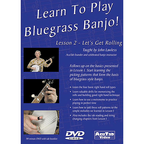 Mel Bay Learn to Play Bluegrass Banjo DVD - Lesson 2: Let's Get Rolling-thumbnail