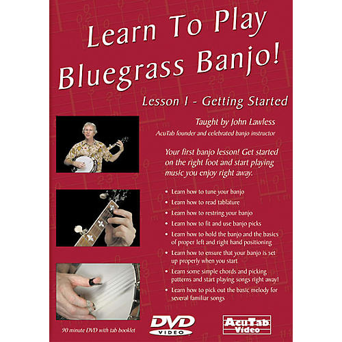Mel Bay Learn to Play Bluegrass Banjo DVD: Lesson 1 - Getting Started-thumbnail